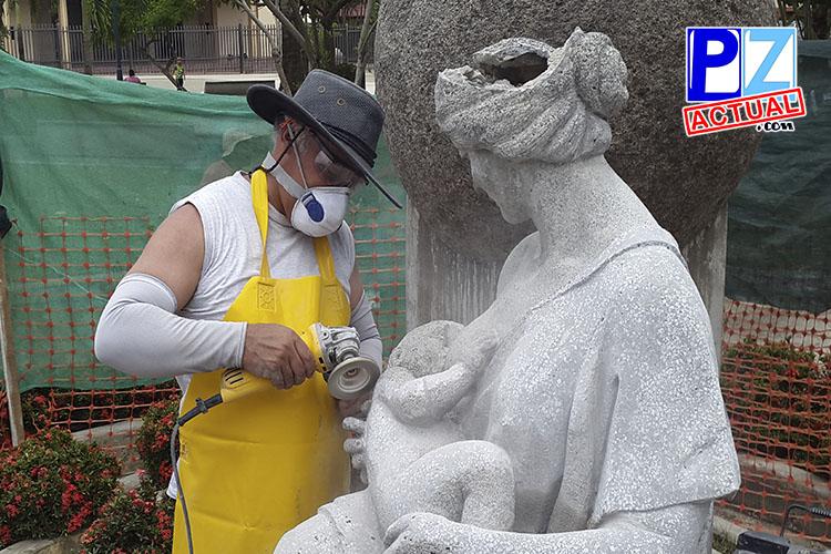 Inician restauración del Monumento a la Madre.