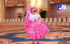 Generaleña Angélica Reyes se posiciona en los primeros lugares con su presentación de talentos en Miss Mundo.