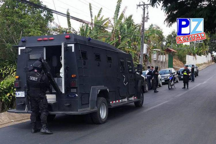 Allanamiento en el sector de Pavones dejó como saldo a una persona detenida.