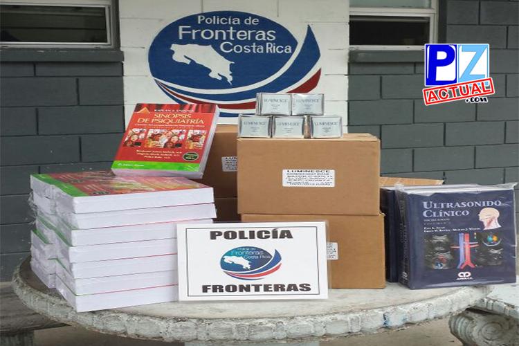 Policía de Fronteras  intercepta contrabando de cremas y libros, también camión con seis toros en puesto del KM 35