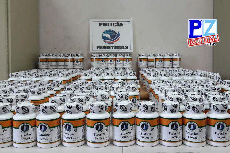 Policía de Fronteras realiza el primer decomiso de fármaco para el control hormonal en Golfito.