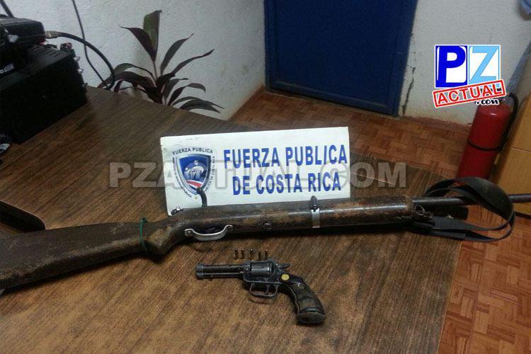 Fuerza Pública detiene a presuntos cazadores en Buenos Aires de Puntarenas.