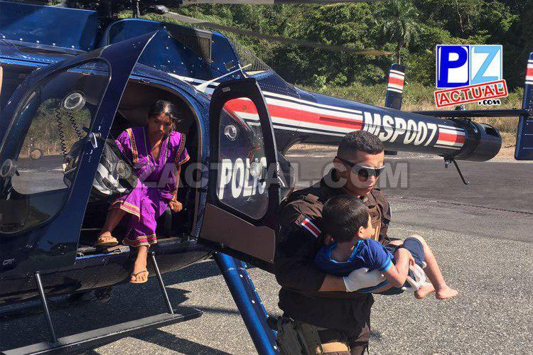 SVA trasladó a niño en helicóptero policial hasta centro médico en Golfito