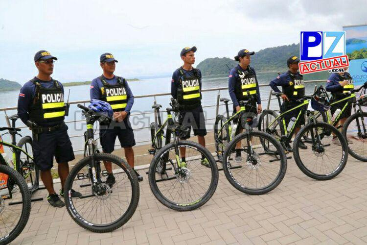 Cantón de Golfito cuenta con más policías, motocicleta y bicicletas para patrullajes.