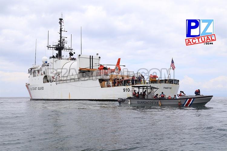 Cae embarcación en aguas internacionales al Sur de Golfito.