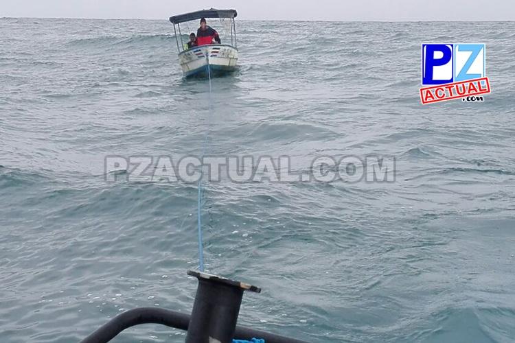Guardacostas rescata embarcación a la deriva con dos adultos y un menor de edad en Golfito.