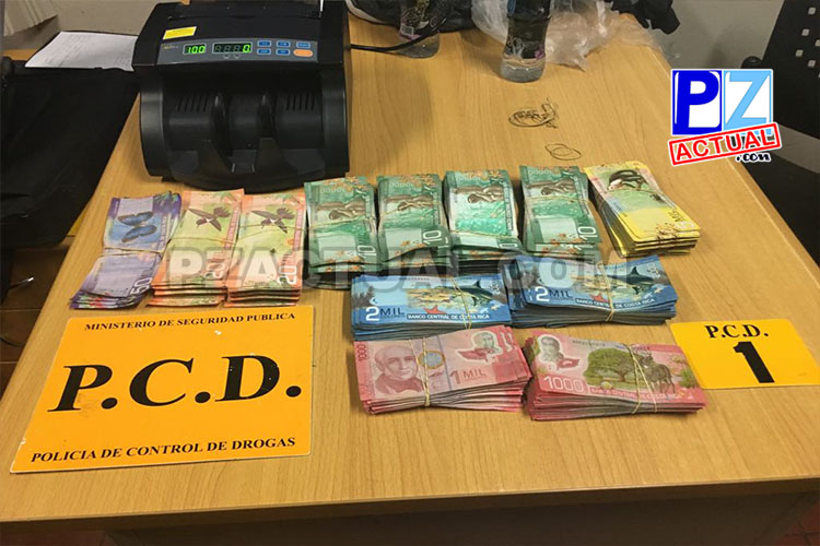 PCD decomisó cuantiosa suma de dinero de dudosa procedencia en bus interceptado en la zona sur.