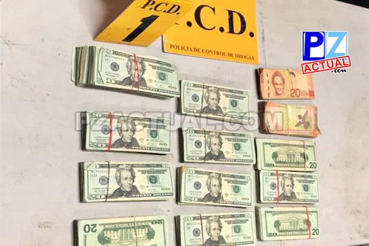 Policía de Fronteras y PCD decomisaron en Guaycará de Golfito dinero de dudosa procedencia.