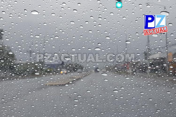 Fuertes condiciones lluviosas para esta tarde.