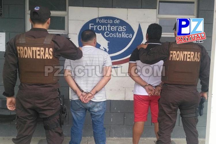Policía de Fronteras aprehende a dos colombianos con más de cinco millones de colones en efectivo.