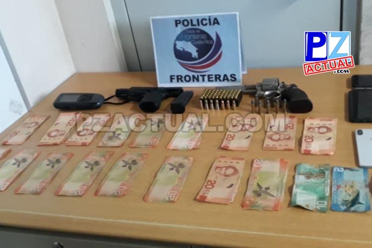 Policía de Fronteras lleva este año 13 armas de fuego decomisadas en puesto del KM 35 de Interamericana Sur.