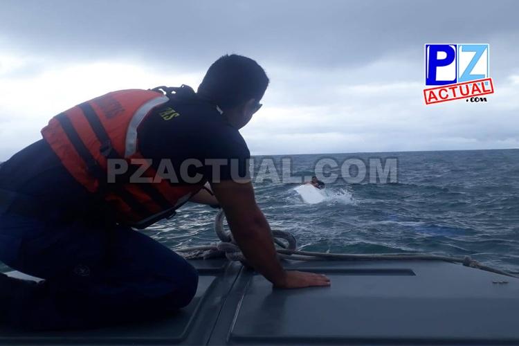 Rápida acción de Guardacostas de Golfito permitió salvarle la vida a tres náufragos, la tarde del sábado.