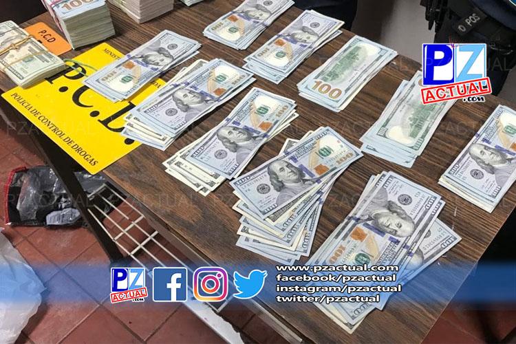 PCD detuvo a sujeto y decomisó cuantiosa suma de dinero en efectivo en Golfito.