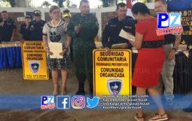 Catorce comunidades de la Zona Sur se graduaron en Seguridad Preventiva.
