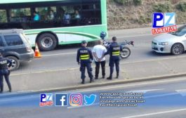 Fuerza Pública de Pérez Zeledón aprehende a sujeto que se hizo pasar como oficial de tránsito.