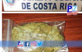 Sujetos fueron interceptados  en San Isidro de El General por por hurto y portación de droga.